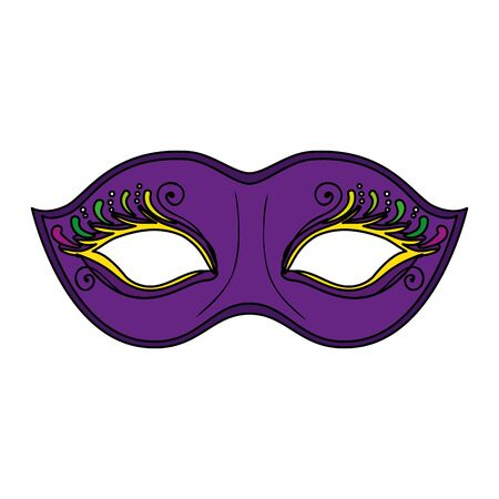 Illustration pour Mardi gras mask design, Party carnival decoration celebration festival holiday fun new orleans and traditional theme Vector illustration - image libre de droit