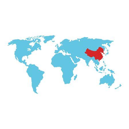 Illustration pour world map earth isolated icon vector illustration design - image libre de droit