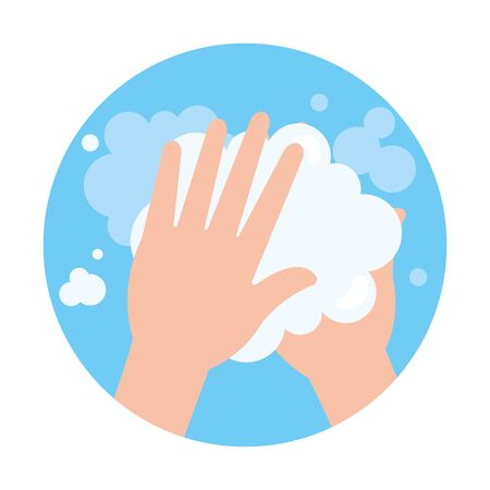 washing hands cleaning isolated icon vector illustration design