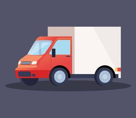 Illustration pour truck delivery service vehicle icon vector illustration design - image libre de droit