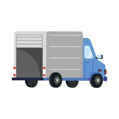 Illustration pour truck design, Safe delivery quarantine logistics and transportation theme Vector illustration - image libre de droit