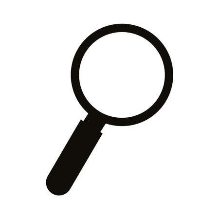 Illustration pour search magnifying glass silhouette style icon vector illustration design - image libre de droit