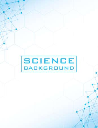 Photo pour white science background with lines structures vector illustration design - image libre de droit