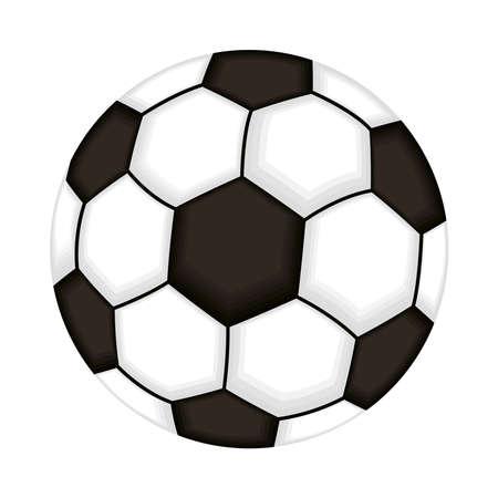Illustration pour soccer balloon sport isolated icon vector illustration design - image libre de droit