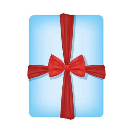 Illustration pour Gift with bowtie design, happy birthday celebration decoration party festive and surprise theme Vector illustration - image libre de droit