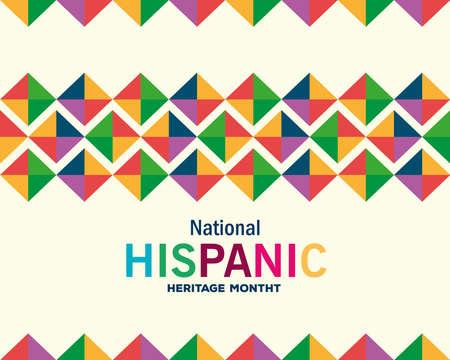 Illustration pour colored pattern background design, national hispanic heritage month and culture theme Vector illustration - image libre de droit