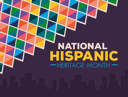 Illustration pour hispanic and latino americans culture, national hispanic heritage month in september and october, banner and background vector illustration design - image libre de droit