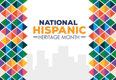 Illustration pour hispanic and latino americans culture, national hispanic heritage month in september and october of different colors decoration vector illustration design - image libre de droit