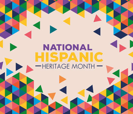 Illustration pour background, hispanic and latino americans culture, national hispanic heritage month in september and october vector illustration design - image libre de droit