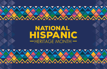 Illustration pour hispanic and latino americans culture, national hispanic heritage month in september and october, background or banner vector illustration design - image libre de droit