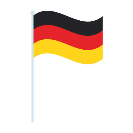 germany flag waving in pole icon vector illustration design
