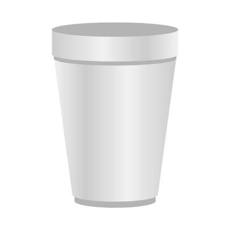 Illustration pour Mockup coffee mug design of corporate identity template and branding theme Vector illustration - image libre de droit
