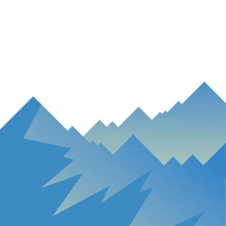 Illustration pour blue mountains design, Landscape nature earth eco ecology conservation bio environment and outdoor theme Vector illustration - image libre de droit
