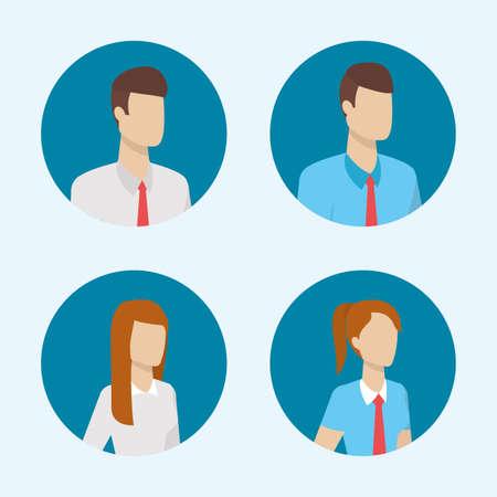 Illustration pour business people characters round icons vector illustration - image libre de droit