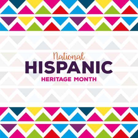 Illustration pour background, hispanic and latino americans culture, national hispanic, heritage month vector illustration design - image libre de droit