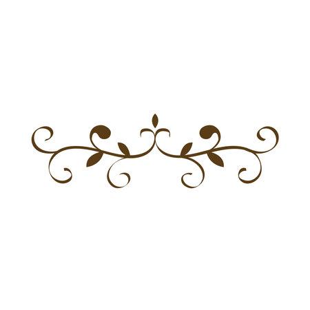 Illustration pour divider victorian decoration frame icon - image libre de droit