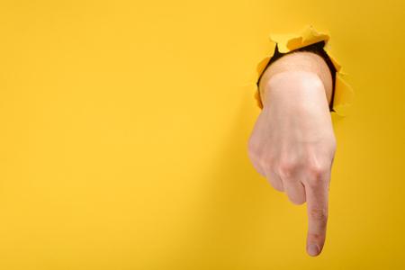 Foto de Finger pointing down - Imagen libre de derechos