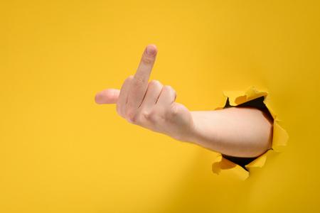 Foto de Hand showing middle finger - Imagen libre de derechos