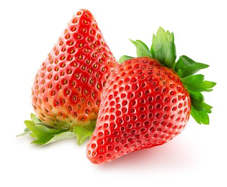 Photo pour strawberries isolated on a white background. - image libre de droit