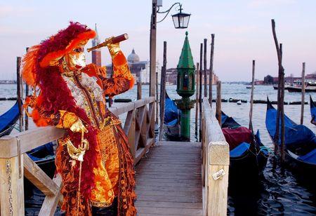 Portrait Beautiful karnavale masks in Venice, Italy