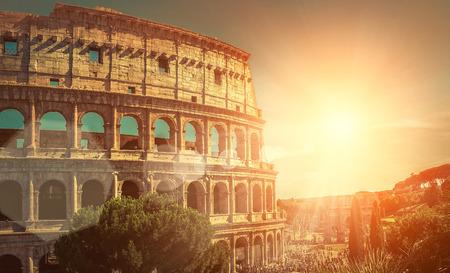 Photo pour One of the most popular travel place in world - Roman Coliseum. - image libre de droit