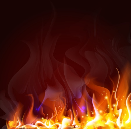 Illustration for fiery background for design    - Royalty Free Image