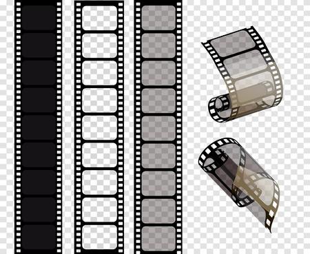 Illustration for Set of vector film strips .Vector illustration of 10 EPS. - Royalty Free Image