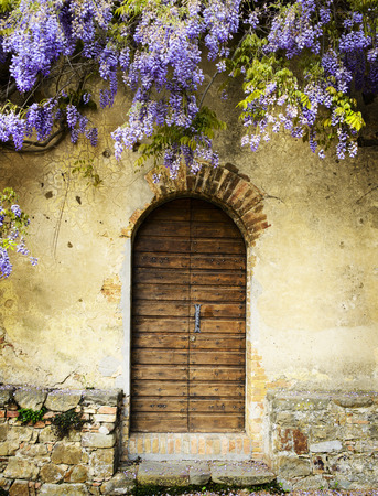 Fairy door of an old tuscan villa