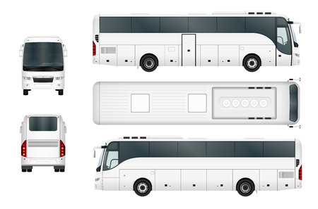 Illustration for Vector bus template isolated on white background. Separate by groups and layers. - Royalty Free Image
