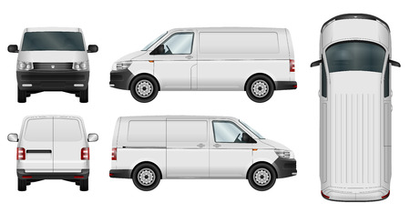 Ilustración de Car  template. Cargo minivan isolated on white background. All elements in groups on separate layers. The ability to easily change the color. - Imagen libre de derechos
