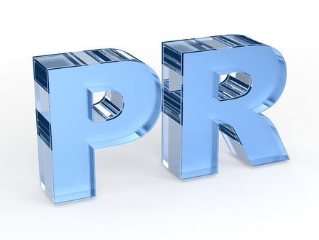 PR - public relations word