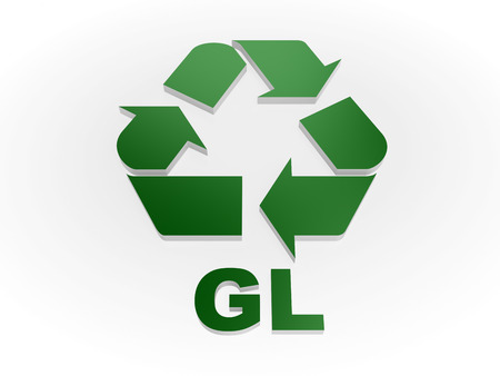 Recycle GL sign Recycling codes - glass