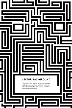 Abstract vector background design with maze texture and