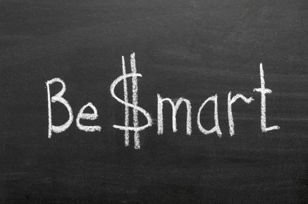 be  mart phrase handwritten on blackboard