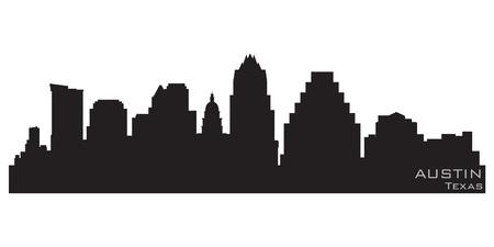 Austin, Texas skyline  Detailed silhouette