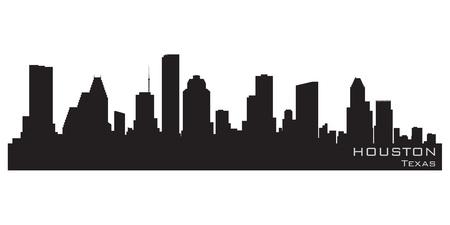 Houston, Texas skyline  Detailed silhouette