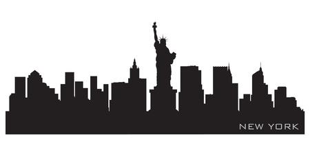 Illustration for New York skyline  Detailed silhouette - Royalty Free Image