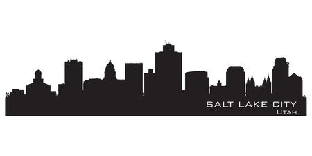 Salt Lake City Utah skyline. Detailed city silhouette. Vector illustration