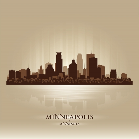 Minneapolis Skyline Illustration
