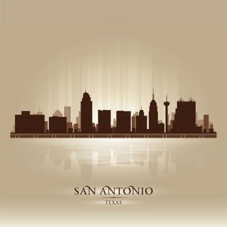 San Antonio Texas skyline city silhouette