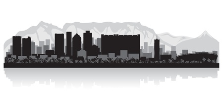 Illustration for Cape Town city skyline silhouette  illustration - Royalty Free Image