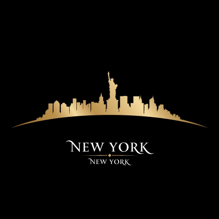 New York city skyline silhouette. Vector illustration