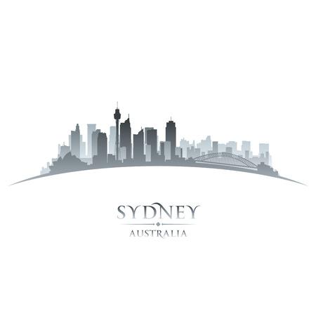 Vektor für Sydney Australia city skyline silhouette. Vector illustration - Lizenzfreies Bild