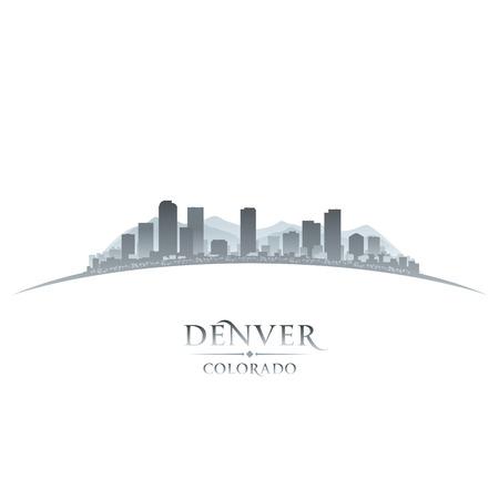 Denver Colorado city skyline silhouette. Vector illustration