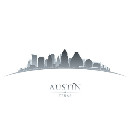 Austin Texas city skyline silhouette. Vector illustration