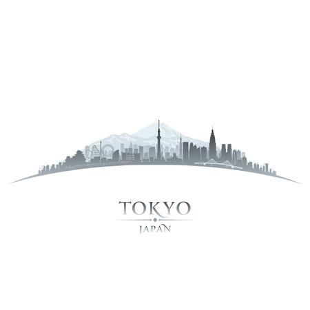 Tokyo Japan city skyline silhouette. Vector illustration