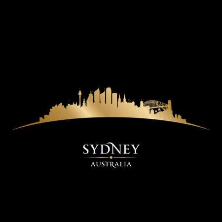 Illustration pour Sydney Australia city skyline silhouette. Vector illustration - image libre de droit
