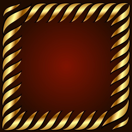 vector golden card with golden texture and center