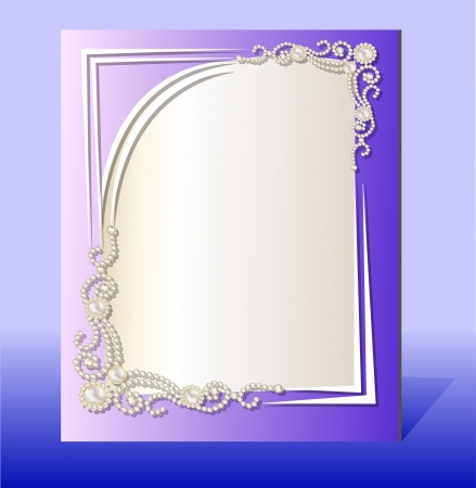 illustration frame for photo with precious stones