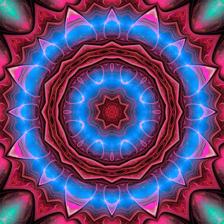 Photo for illustration background fractal colorful spiral satin silk - Royalty Free Image